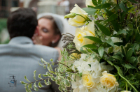 wedding yellow flower romantic kiss artistic photo