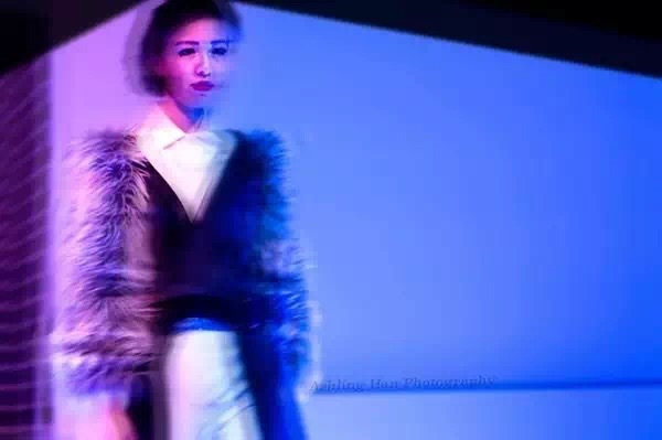 fashion show with blue vivid color photo