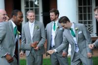 wedding in Virginia with wonderful memory groomsmates gray with green