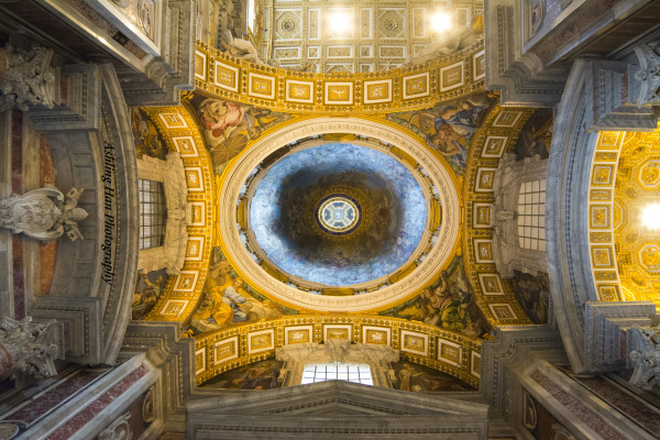 italy chapel ceiling design professional architecture photography gold and blue sky